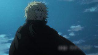 アニメ『ヴィンランド・サガ』丘の上に立つトルフィン