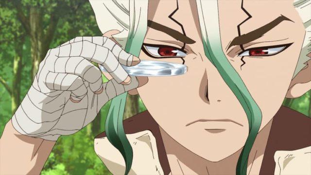 アニメ『Dr.STONE』ガラスを作る千空