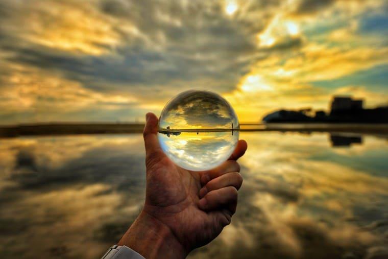 ガラス玉の中の夕焼け