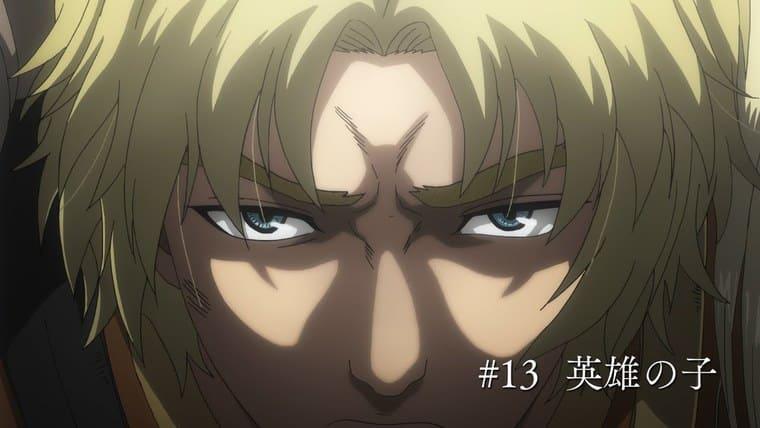 アニメ『ヴィンランド・サガ』凄む表情の少年・アシェラッド