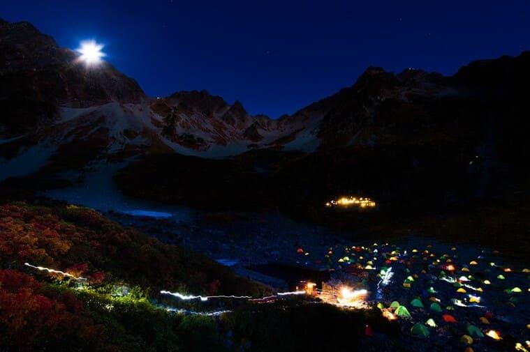 美しいテント村