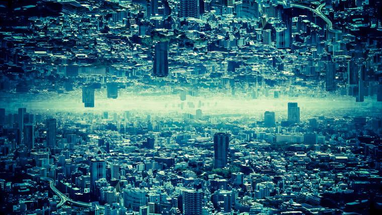 消滅都市のフォトモンタージュ