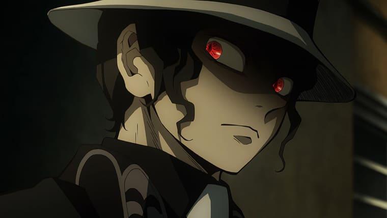アニメ『鬼滅の刃』睨む鬼舞辻無惨