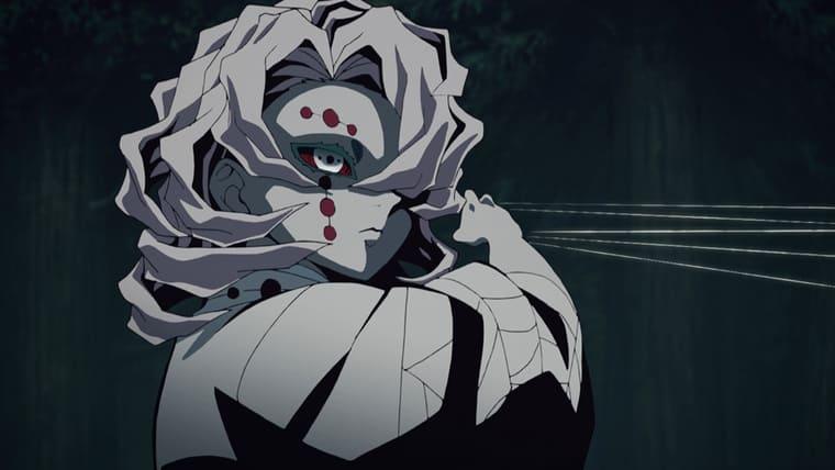アニメ『鬼滅の刃』糸で攻撃をしてくる累