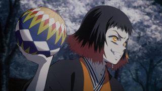 アニメ『鬼滅の刃』ニヤリと笑う手毬鬼