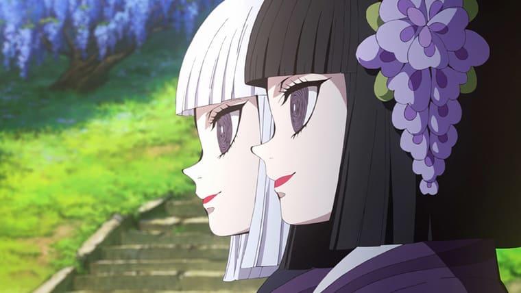 アニメ『鬼滅の刃』鬼殺隊の説明をするふたりの女の子