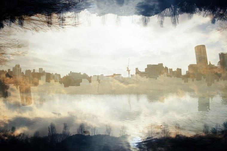 都会の蜃気楼フォトモンタージュ