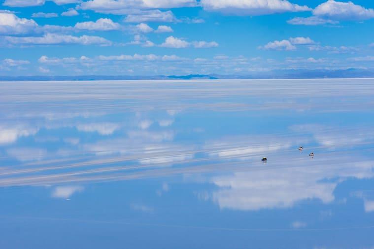 ウユニ塩湖の空
