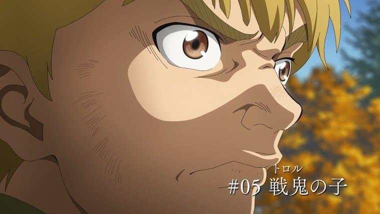 アニメ『ヴィンランド・サガ』前を見つめるトルフィン