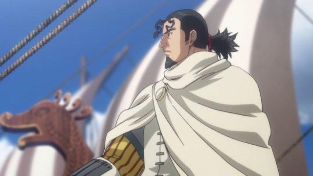 アニメ『ヴィンランド・サガ』船に乗るトールズ