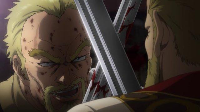 アニメ『ヴィンランド・サガ』剣を持ったアシェラッド