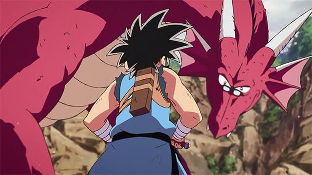 アニメ『ダイの大冒険』ドラゴンに変身したアバン先生と戦うダイ