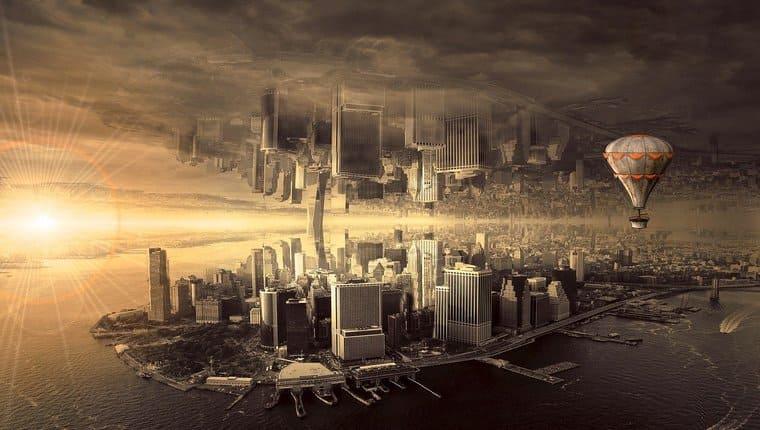 幻想的な都市