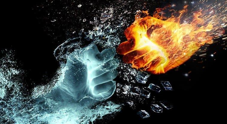 炎と水の戦い