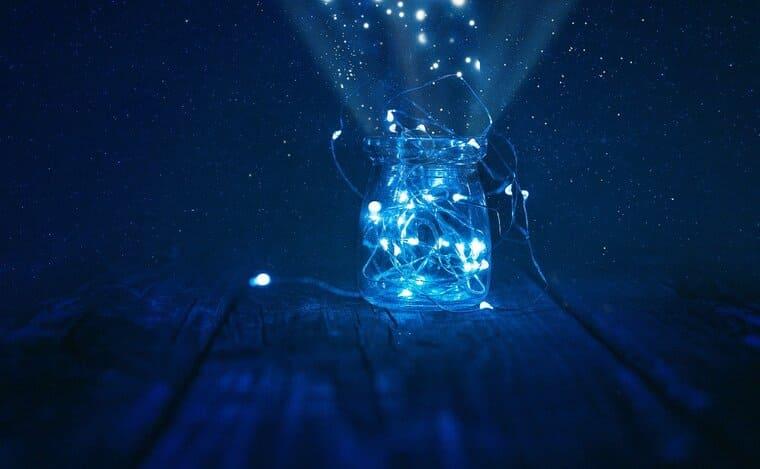 瓶の中の美しい光