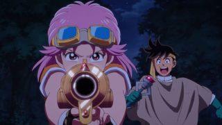 アニメ『ダイの大冒険』魔弾丸を構えるマァムとポップ