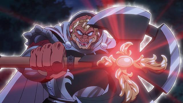 アニメ『ダイの大冒険』真空の斧を振るうクロコダイン