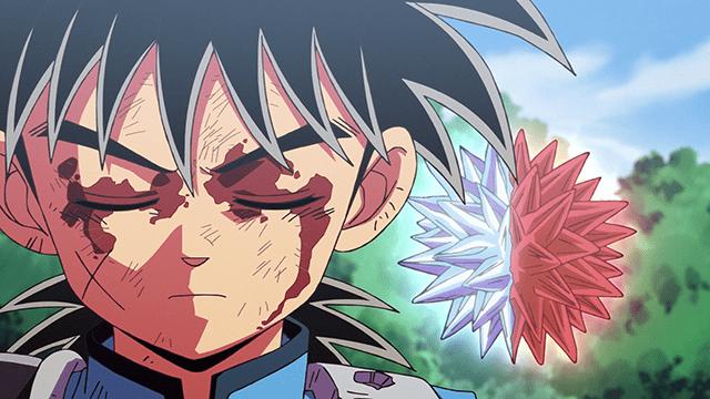 アニメ『ダイの大冒険』フレイザードのコアを斬るダイ