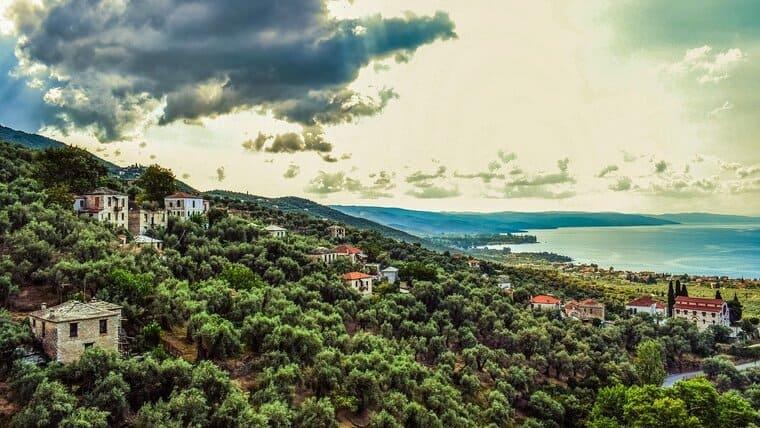 ギリシャの田舎風景