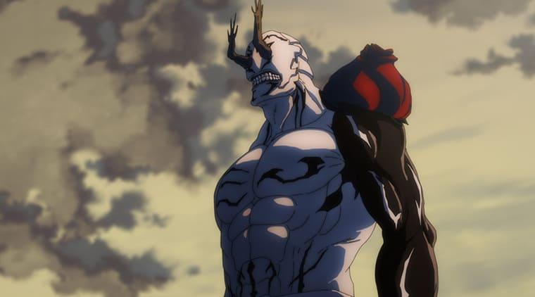 アニメ『呪術廻戦』肩の袋を破った花御