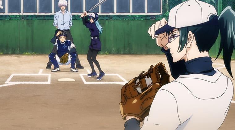 アニメ『呪術廻戦』野球をする高専メンバー