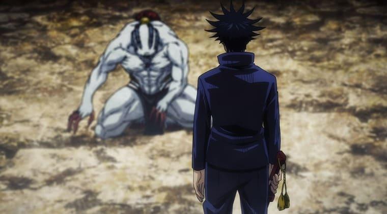 アニメ『呪術廻戦』特級呪霊と対峙する伏黒