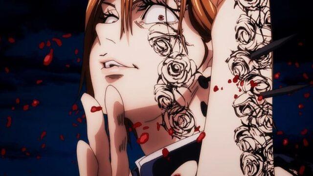 アニメ『呪術廻戦』壊相・血塗の血を浴びた釘崎