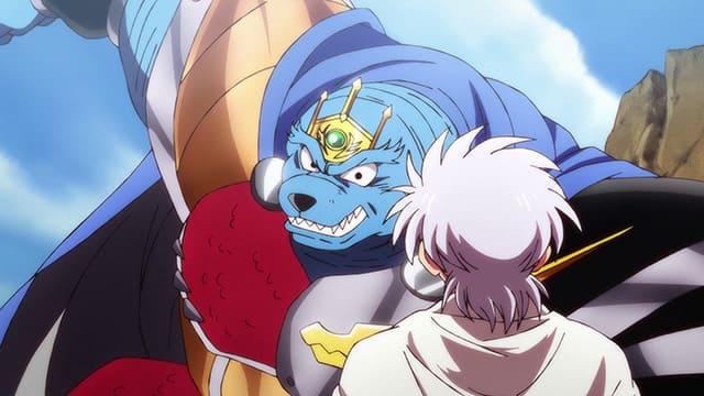 アニメ『ダイの大冒険』ボラホーンと対峙するヒュンケル
