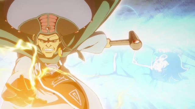 アニメ『ダイの大冒険』同時に呪文を使うマトリフ