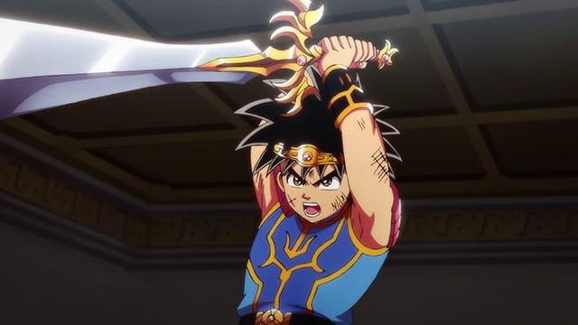 アニメ『ダイの大冒険』覇者の剣を引き抜くダイ