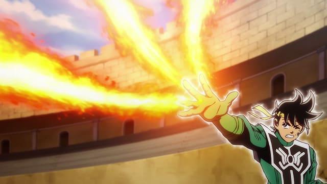 アニメ『ダイの大冒険』フィンガー・フレア・ボムズを放つポップ
