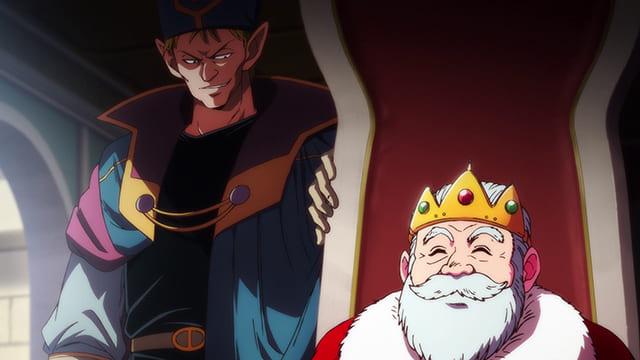 アニメ『ダイの大冒険』ロモス王と話すザムザ