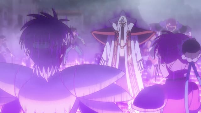 アニメ『ダイの大冒険』闘魔滅砕陣を使うミストバーン