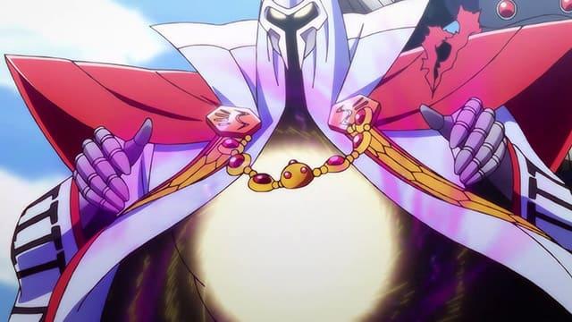 アニメ『ダイの大冒険』闇の衣に手をかけるミストバーン