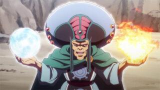 アニメ『ダイの大冒険』メドローアを教えるマトリフ