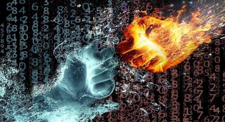 炎と氷の拳